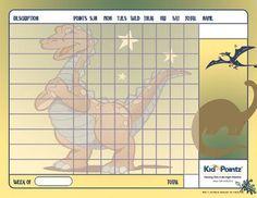 Charts for Kids   Dinosaur Theme   Kid Pointz