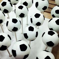NY Cake Pops. Soccer Ball Cake Pops for Mario's 2nd Birthday party.