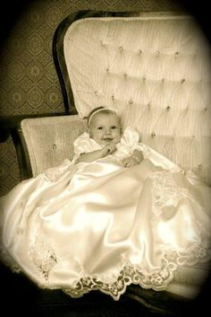 Great idea for your old wedding dress blessing dress was made