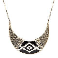 Vintage Black C Style Choker Necklace – USD $ 7.99