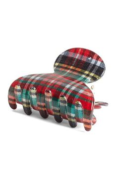 France Luxe 'Mini Couture' Plaid Jaw Clip available at #Nordstrom