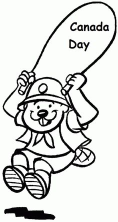 canadian beaver colouring pages yahoo canada image search results canada day pinterest. Black Bedroom Furniture Sets. Home Design Ideas