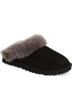 UGG® 'Cluggette' Genuine Shearling Indoor/Outdoor Slipper (Women) available at #Nordstrom