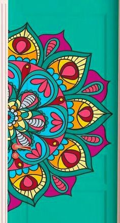 Mandala Doodle, Mandala Art Lesson, Mandala Artwork, Mandala Drawing, Hippy Art, Creative Wall Painting, Butterfly Drawing, Madhubani Art, Geometric Flower
