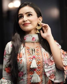 cute and beautiful ankita sharma's latest hd images, wiki and much more. Salwar Suit Neck Designs, Neck Designs For Suits, Kurta Designs Women, Dress Neck Designs, Punjabi Suits Designer Boutique, Indian Designer Suits, Kurti Sleeves Design, Sleeves Designs For Dresses, Stylish Dresses For Girls