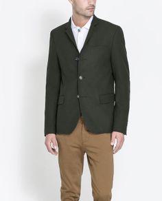 Image 1 of BLAZER WITH ELBOW PATCHES from Zara  #mens #blazer #sportcoat