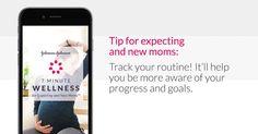 #ad Mommy Katie: Johnson & Johnson 7 Minute Wellness for Expecting #7MinMomApp