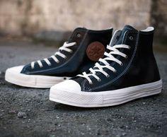 Converse Premium Black Leather Chuck Taylor All-Stars