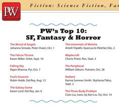 RADIANT is one of Publishers Weekly's Top 10 Science Fiction, Fantasy, and Horror picks for Fall The Immortals Of Meluha, Falling Skies, Self Promotion, Science Fiction, Horror, Fantasy, Board, Top, Sci Fi