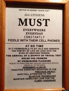 all citizens must fiddle cell phone: The original version of this poster was created by Michael Sumner of Burning Books. See the original and get a free copy here....