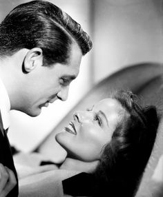 Cary Grant and Katharine Hepburn, Bringing up Baby.