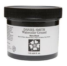 Daniel Smith - 4 oz. - Watercolor Ground Mars Black $9.95