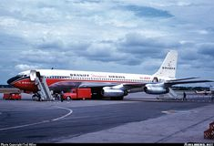 Repinned. I remember seeing this Braniff Boeing 707-227 in Lima, Peru when it was making a test run into Limatambo Airport. I was standing in a park in Miraflores, just outside Lima. If I recall correctly, the year was 1960.