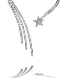 Collar comète de oro blanco de 18 quilates y diamantes. COMÈTE CHANEL