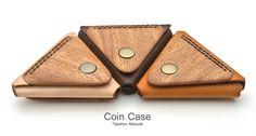 木と革のコインケース coin case02トップ