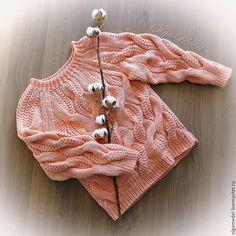 Купить Свитер с косами в косичках - бежевый, персиковый, свитер с косами, вяжу на заказ, вязаный свитер