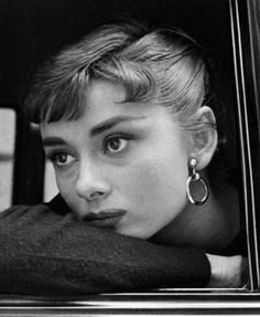 Audrey Hepburn photographed by Dennis Stock on the set of Sabrina, 1954