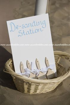 Station where guests can brush the sand of their feet before putting their shoes back on. Clever idea!