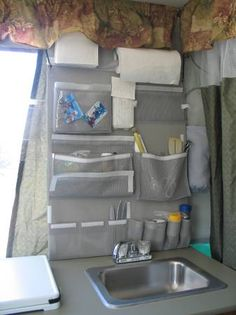 Over the sink organizer for the pop up