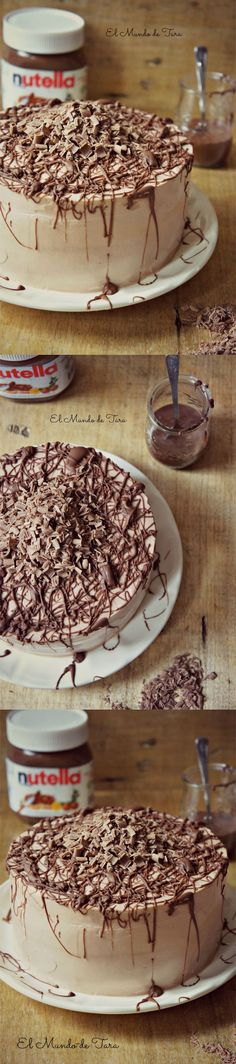 Sweet Recipes, Cake Recipes, Dessert Recipes, Delicious Desserts, Yummy Food, Nutella Cake, Nutella Recipes, Let Them Eat Cake, Yummy Cakes
