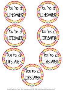 """""""You're a Lifesaver"""" tags, for those lifesaving moments you want to thank someone for.  FREEBIE"""