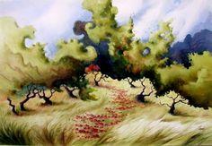 watercolor landscapes - Szukaj w Google