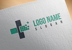Premade Accountant Logo Template, Medicine, Health, Icon, Brand, Company Name, Vector, Plus, Minus by RageRabbit on Etsy