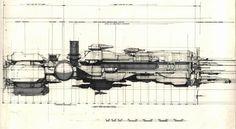 blorgblorgblorg: Syd Mead concept art for the... - BattMobile