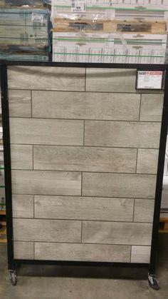 Soft Greige Wood Plank Porcelain Tile 6in X 40in