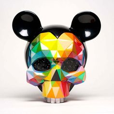"""Releases: Okuda – """"Mickey's Skull"""" « Arrested Motion Unique Colors, Vibrant Colors, Okuda, Beautiful Series, Twisted Disney, Spanish Artists, Street Artists, Urban Art, Art Reference"""