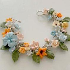 Polymer Clay Flower Bracelet.....cute!!!♥♥ by Sherry Clapp