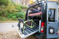 #VanDoIt's Gear Slide is a sturdy, heavy duty platform with nearly unlimited tie down locations. The platform, fully erect holds up to 800 pounds. Haul almost anything with racks, mounts and hooks customizable by the owner. When camping, pull your toys out at night and the slide turns into part of a bunk bed system! #vanlife #adventurevan #van #vans #conversionvan #campervan #travel #travellife #roadtrip #bicycling #cycling #cyclingvan #outdoorvan #adventure #adventurelife #vanliving