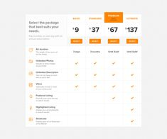 Pricing table full