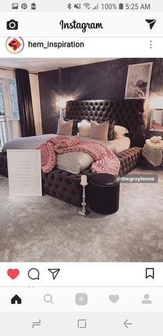 Pink Bedroom Glamour