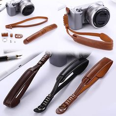 New Classical Leather Camera Wrist Hand Strap For Canon Sony Fujifilm Olympus