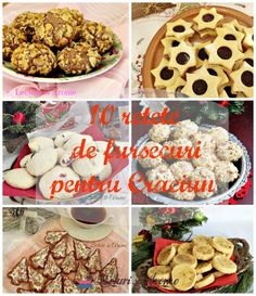 Top 10 retete de fursecuri pentru Craciun - Lecturi si Arome Sweets Recipes, My Recipes, Cake Recipes, Cooking Recipes, Christmas Sweets, Christmas Cookies, Christmas Recipes, Top 10 Desserts, Biscuits