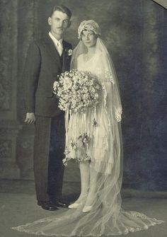 Bride with Carey Grant Groom by Lilly's Lace, via Flickr