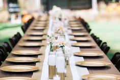 DIY gold wedding decor ideas