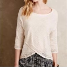 Anthropologie top As photographed but in navy. Beautiful and comfy just a little too big on me. Anthropologie Tops