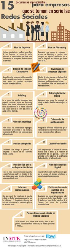 15 documentos para empresas que se toman en serio las Redes Sociales #infografia…