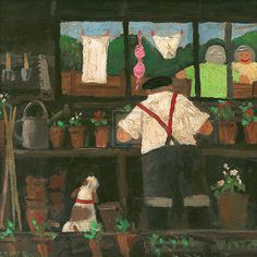 'The Potting Shed' Contemporary Kent  (England) artist Gary Bunt  (1957-).