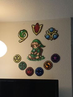 Finally finished my Ocarina of Time Beadsprite wall piece! Im so satisfied : zelda Pearler Beads, Fuse Beads, Nerd Crafts, Diy Crafts, Pixel Art Objet, Cool Pixel Art, Disney Cross Stitch Patterns, Gamers Anime, Perler Bead Art