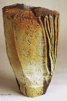 M.Wein textured woodfired vase