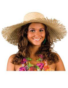 Strohhut Hawaii für Erwachsene : Hüte, und günstige Faschingskostüme - Vegaoo