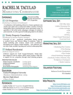 modern resumes 20 custom resume updates from rachel taculad social media marketing wwwracheltaculad - Modern Resumes