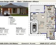 or 966 sq foot - 2 Bedrooms + 2 bathroom Granny Flat - Australia and USA Concept Plans ( blueprints ) house plans, small house plans Plan Duplex, Duplex Floor Plans, Floor Plan 4 Bedroom, Garage Floor Plans, 2 Bedroom House Plans, Cottage House Plans, Craftsman House Plans, House Floor Plans, House Plans For Sale
