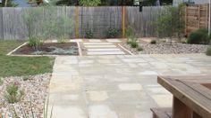 "Limestone patio to increase backyard ""living area"""
