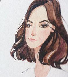 Меня попросили нарисовать портрет девушки. Анонимно. Возможно когда сложно…