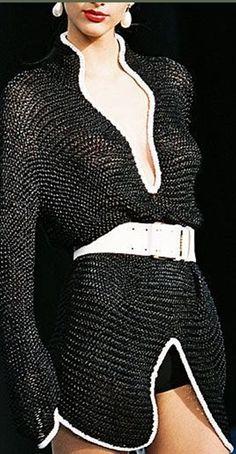 malha de tricô preta - diy