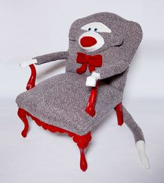 Sock Monkey Chair - Rebecca Yaker